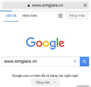 Sim gia re on google